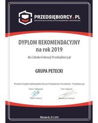 Dyplom Rekomendacyjny na rok 2019 - zdjęcie