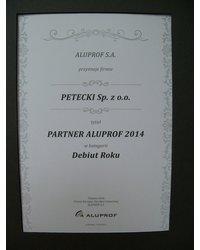 Wyróżnienie PARTNER ALUPROF 2014 - zdjęcie