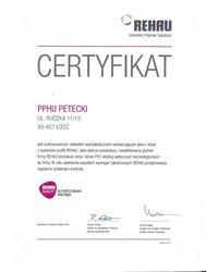 Certyfikat Rehau Quality - zdjęcie