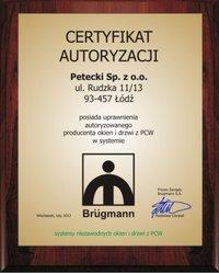 Certyfikat Brügmann - zdjęcie