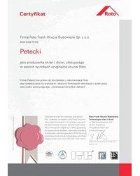 Certyfikat Roto FRANK AG - zdjęcie