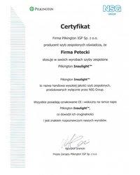 Certyfikat Pilkington IGP - zdjęcie