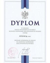 """Honorowe odznaczenie za """"Zasługi dla Rozwoju Gospodarki RP"""" - zdjęcie"""
