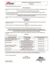 Deklaracja właściwości użytkowych - Belka stropowa RS111 - zdjęcie