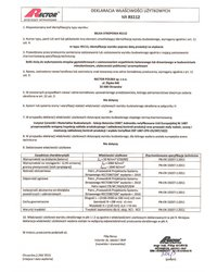 Deklaracja właściwości użytkowych - Belka stropowa RS112 - zdjęcie