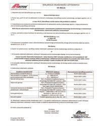 Deklaracja właściwości użytkowych - Belka stropowa RS113 - zdjęcie