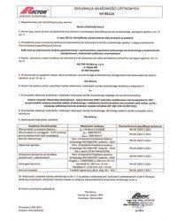 Deklaracja właściwości użytkowych - Belka stropowa RS114 - zdjęcie