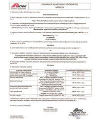 Deklaracja właściwości użytkowych - Belka stropowa RS115 - zdjęcie
