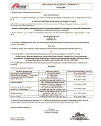 Deklaracja właściwości użytkowych - Belka stropowa RS139 - zdjęcie