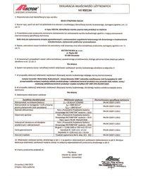 Deklaracja właściwości użytkowych - Belka stropowa RSE134 - zdjęcie