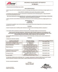 Deklaracja właściwości użytkowych - Belka stropowa RSE134 S - zdjęcie
