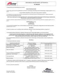 Deklaracja właściwości użytkowych - Belka stropowa RSE138 - zdjęcie