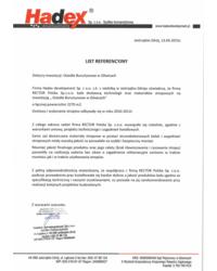 List referencyjny HADEX - zdjęcie