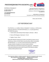 List referencyjny ROBUD - zdjęcie