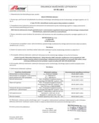 Deklaracja właściwości użytkowych - Belka stropowa RSE136 S - zdjęcie