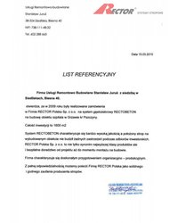 List referencyjny Usługi Remontowo-budowlane Stanisław Juruś - zdjęcie