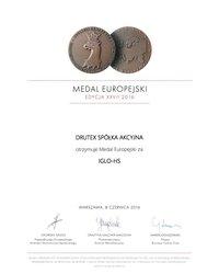 Medal Europejski 2016 - zdjęcie