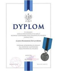 Dyplom za zasługi dla rozwoju gospodarki RP - zdjęcie