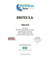 DRUTEX Przemysłową Firmą Roku 2014 - zdjęcie