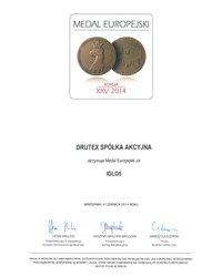 Medal Europejski 2014 - zdjęcie