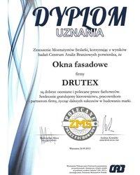 Dyplom uznania dla okna fasadowego - zdjęcie