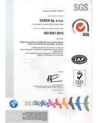 Certyfikat ISO 9001 2015 dla Gerda - zdjęcie