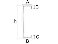 Kształtowniki zimnogięte - profil C - zdjęcie