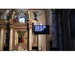 Wyświetlacze tekstowe do kościoła, wyświetlacze napisów do kościoła - zdjęcie