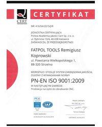 Certyfikat jakości ISO 9001:2001 - zdjęcie
