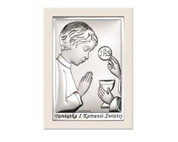 Obrazek na Komunię Świętą dla chłopca - zdjęcie