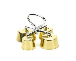 Dzwonek mszalny mosiężny, poczwórny, czterotonowy - zdjęcie