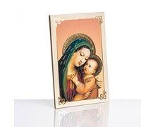 Obrazek na drewnie Matka Boża Dobrej Rady - zdjęcie