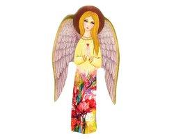 Ręcznie wykonana ikona z Aniołem Stróżem - zdjęcie