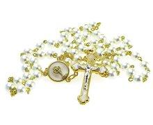 Różaniec perłowy na Komunię - zdjęcie
