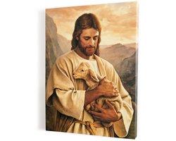 Jezus Chrystus Dobry Pasterz, obraz na płótnie canvas - zdjęcie
