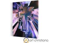 Krzyż, obraz na płótnie canvas - zdjęcie