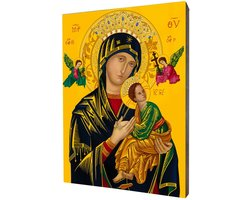 Obraz na desce lipowej, Matka Boża Nieustającej Pomocy - zdjęcie