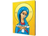 Obraz na desce lipowej, Pneumatofora, Matka Boża niosąca Ducha Św. - zdjęcie