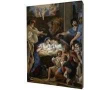 Obraz religijny na desce lipowej, Boże Narodzenie - zdjęcie