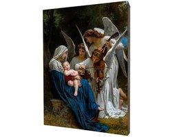 Obraz religijny na desce lipowej, śpiew Aniołów - zdjęcie