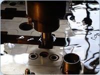 Obróbka elektrodrążenie, wgłębne, drutowe, EDM, WEDM, elementów, detali, z, węglika spiekanego, stali hartowanej - zdjęcie