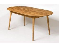 Stół dębowy owalny rozkładany Fabio - zdjęcie
