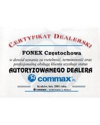 Certyfikat autoryzowanego dealera COMMAX - zdjęcie