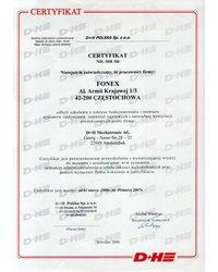 Certyfikat D+H Polska Sp. z o.o. - zdjęcie