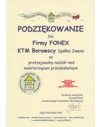 Podziękowanie - Artystyczne Przedszkole Olka Klepacza - zdjęcie