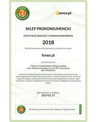 Certyfikat Dbałości o Prawa Konsumenta 2018 - zdjęcie