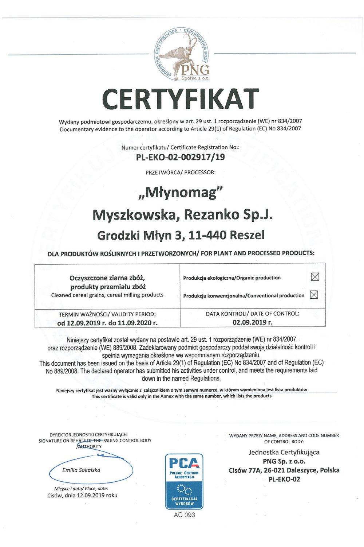 Certyfikat PNG - zdjęcie