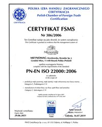 Certyfikat FSMS - zdjęcie