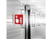 Znak przestrzenny włącznik alarmu - zdjęcie