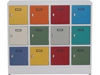 Szafy szkolne - Szafa SK12 MINI / drzwi - kolorowe / korpus RAL 7035 - zdjęcie